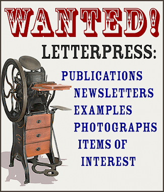 Wanted! Letterpress Examples