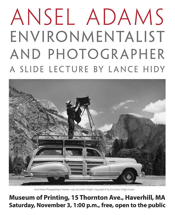Lance Hidy lecture on Ansel Adams
